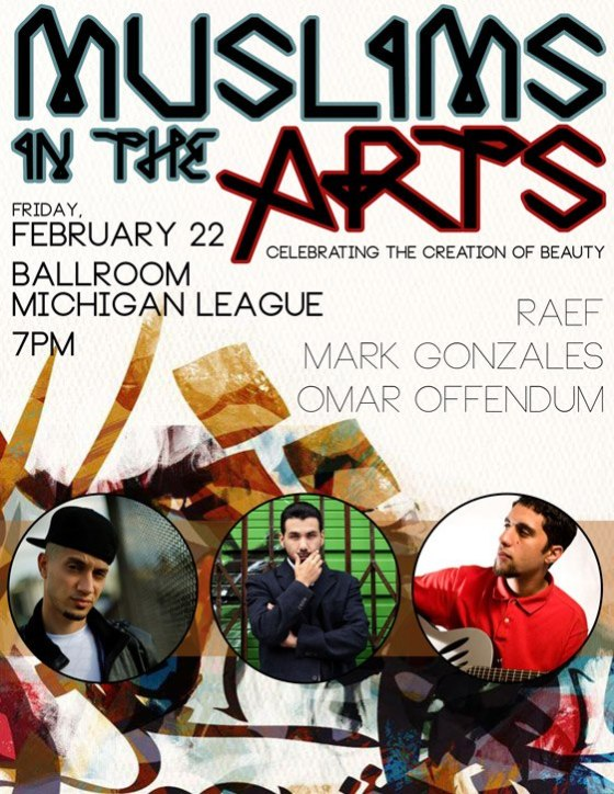 Muslims in the Arts Flyer