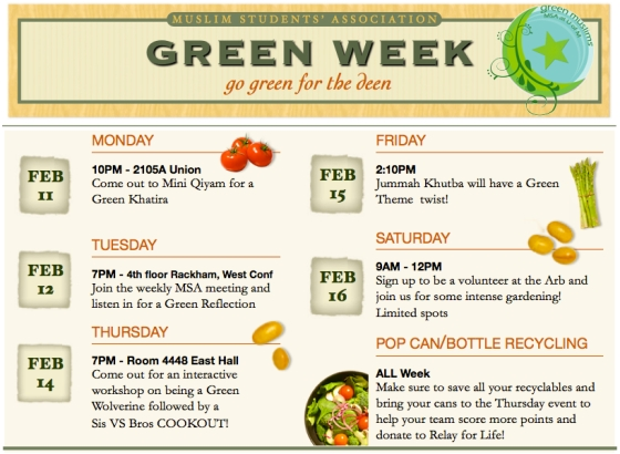 Green Week Flyer